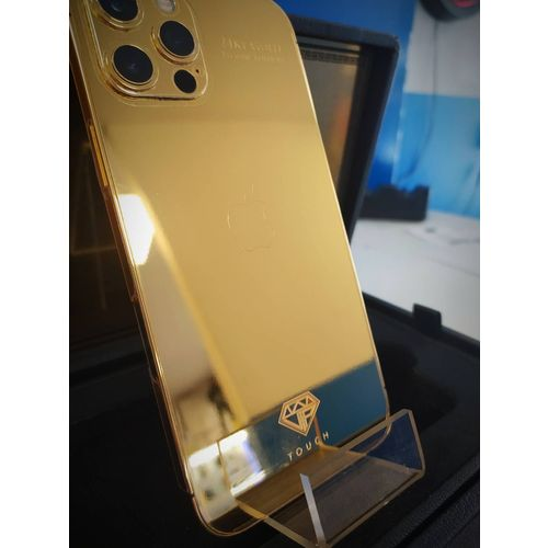 iPhone 12 Pro Max 256 Go 24kt Gold Luxueux Edition by Touch Design Teleohon & Navigation