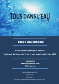 Stage Aquaphobie